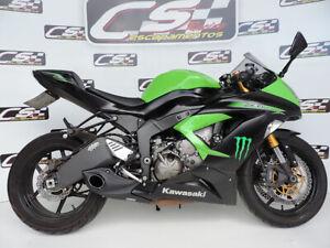 2013-18 Kawasaki ZX-6R Ninja 636 CS Racing Slip-on Exhaust Muffler + dB Killer