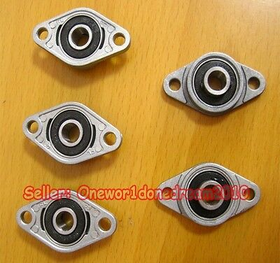 5Pcs 8mm Bore Diameter KFL08 FL08 Pillow Block Bearing Flange Block Bearings