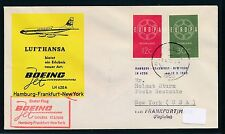 81975) LH FF Frankfurt - New York 17.3.60, SoU ab Niederlande CEPT