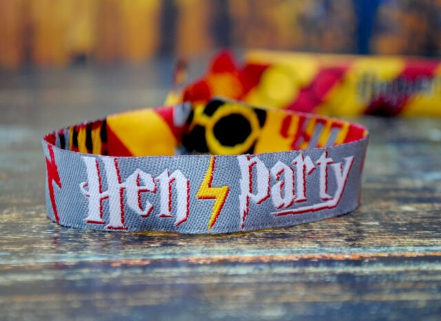 Brides Witches Harry Potter Hen Party Wristbands / Bachelorette Party Favours