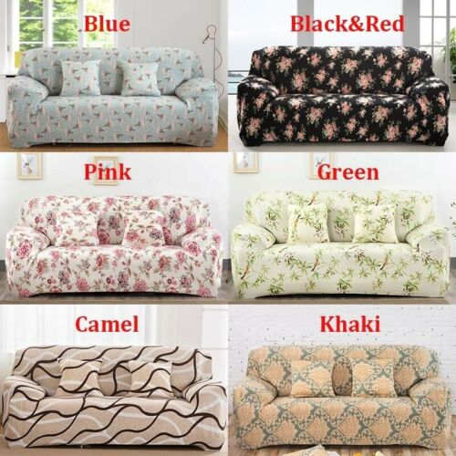 Universal 2PCS Covers L Shape Sofa Recliner Stretch Couch Slipcovers Anti-ash