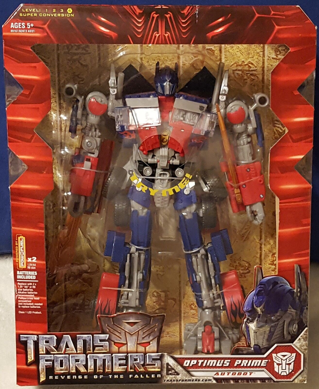 Optimus Prime Revenge of the Fallen Leader Class Transformers 2009 Figure