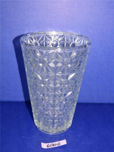 Große DDR Glas Pressglasvase H 20 cm Blumenvase Tischvase Lausitzer Pressglas