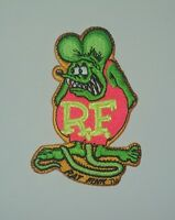 "OFFICIALLY LICENSED ED ""BIG DADDY"" ROTH RAT FINK HOT ROD PATCH GREEN & PINK"