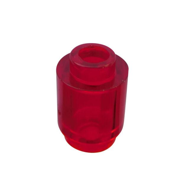 LEGO 10 x Pieza Redonda Rojo Transparente(TRANS Rojo) 1x1 Piedra NUEVO