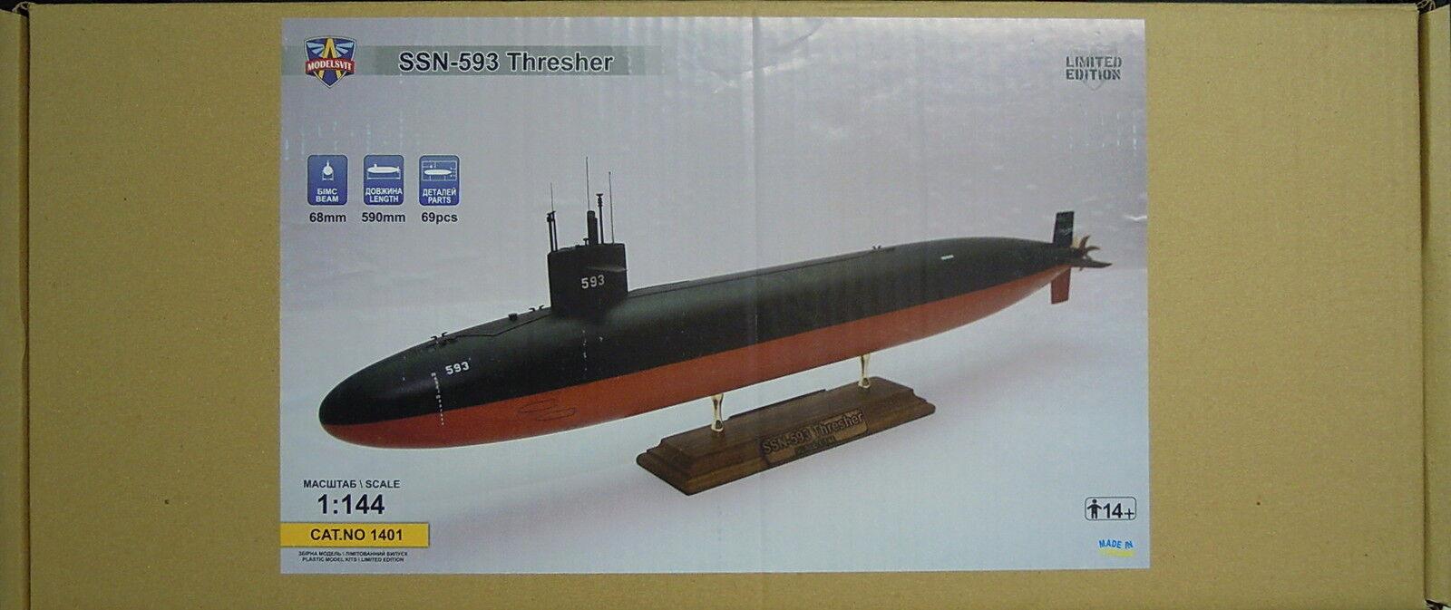 U Boat SSN-593   Thresher  , Modelsvit, 1 144, Plastic, Limited, Novelty
