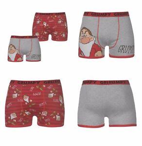 2-Pack-Disney-Novelty-Boxer-Shorts-Boxers-Trunks-Mr-Grumpy-Pants-S-M-L-XL-2XL