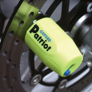 Oxford-Patriot-Thatcham-Approved-Motorcycle-Motorbike-Disc-Lock-OF40-Yellow