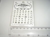 3D Nail tip Art stickers transfer water decals  Glitter Bling Silver J61