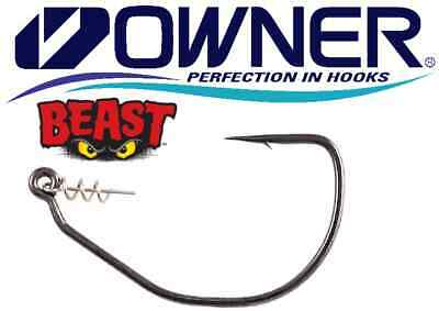 Owner Beast Weighted Swimbait Wide Gap Hook with Twistlock 5130W You Choose