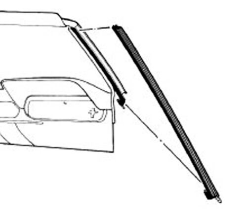 NEW 1965-1966 Mustang Convertible Pillar Post Windshield Seals Weatherstrip Pair