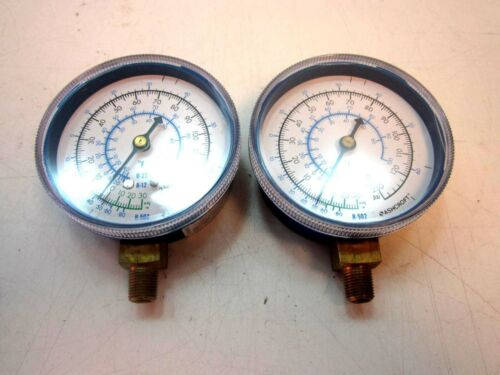 "2 ASHCROFT 30/"" Hg Vac to 120//250 PSI 1//8/"" NPT Bottom Mount Compound Gauges NEW"