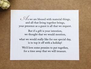 Wedding Gift Cash Check Or Gift Card : Wedding-Poem-Card-Inserts-Wedding-Invitations-Money-Cash-Gift ...
