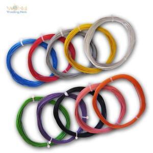(0,35€/m) 10m flexible Litze 0,25mm² Kabel, Kupferlitze Leitung Schaltlitze LiYv