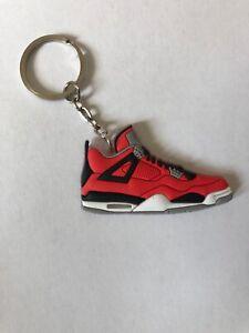 detailed look 66ce4 1cca7 Details about Air Jordan IV 4 Toro Bravo Keychain Retro OG Sneaker Nike USA  Shipped