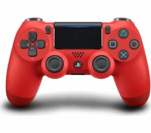SONY DualShock 4 V2 Wireless Controller - Magma Red - Currys