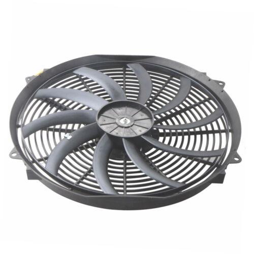 16 inch 12V Universal Slim Fan Push Pull Electric Radiator Cooling W// Mount Kit