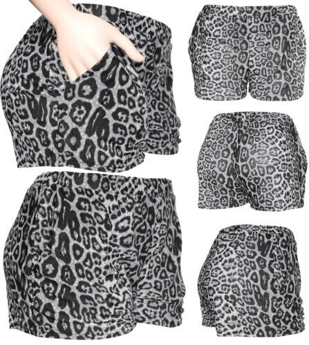 Womens//Juniors Fashion Summer Leopard Casual Shorts Pants