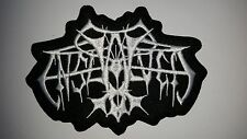 ENSLAVED   WHITE SHAPED  LOGO   EMBROIDERED PATCH