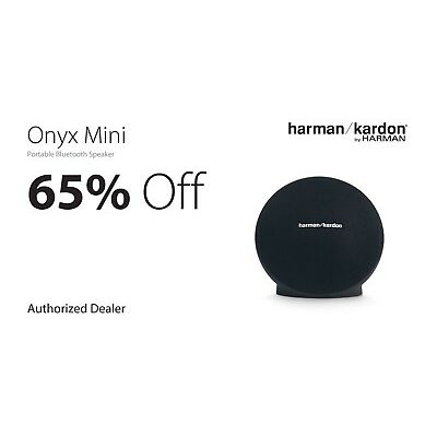 Harman/Kardon Onyx Mini Portable Bluetooth Speaker - Black HKONYXMINIBLKAM