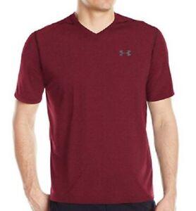7692e770 Under Armour Mens UA Threadborne V Neck Short Sleeve Shirt 1295527 ...