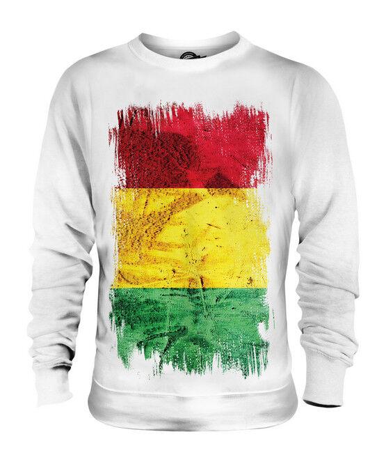 GUINEA GRUNGE FLAG UNISEX SWEATER TOP GUINÉE GUINEAN GINE SHIRT FOOTBALL