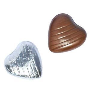 200 Feuille D'argent Chocolat Coeurs Amour Mariage Faveurs Valentines-afficher Le Titre D'origine