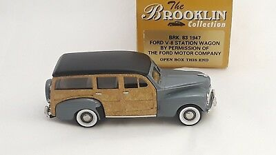 BRK83A Parrot Green Poly Brooklin Models 1947 Ford V8 Station Wagon