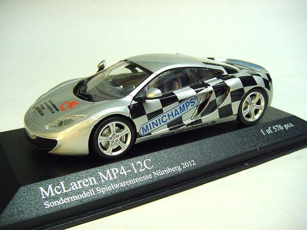 alta calidad 1 43 Minichamps 2011 McLaren MP4-12C    2012 Juguete Fair Nuernberg  RARE PROMO Modelo  con 60% de descuento