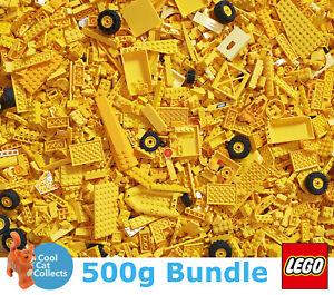 Genuine-lego-500-G-Bundle-of-Mixed-Jaune-briques-joblots-Gratuit-figurine