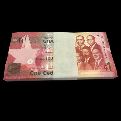 Ghana 1 Cedi 2015 banknote UNC P-37 NEW Lot 10 PCS