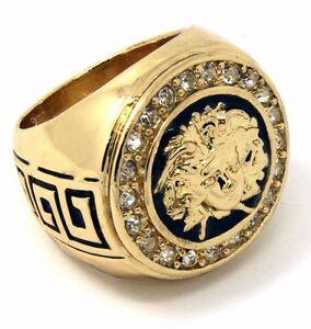 Mens K Gold Plated Rings