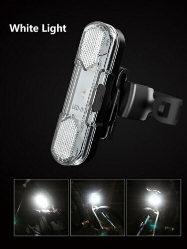 USB 5 LED Rechargeable Bicycle Bike Tail Light Rear Lamp Safety Cycling Warning