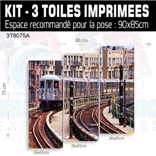TABLEAU NEW YORK TRAIN TRAIN IMPRESSION IMAGE TOILE 60 MODELES IMPRIMEE NY-21