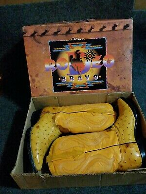 Rodeo Bravo Ostrich Embossed Leather