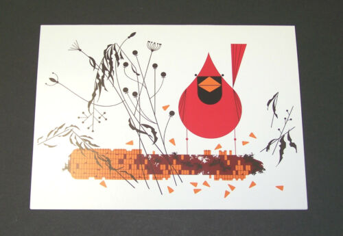 """Charles//Charley Harper Notecards /""""Red and Fed/"""" 4 Pack w//Envelopes"""