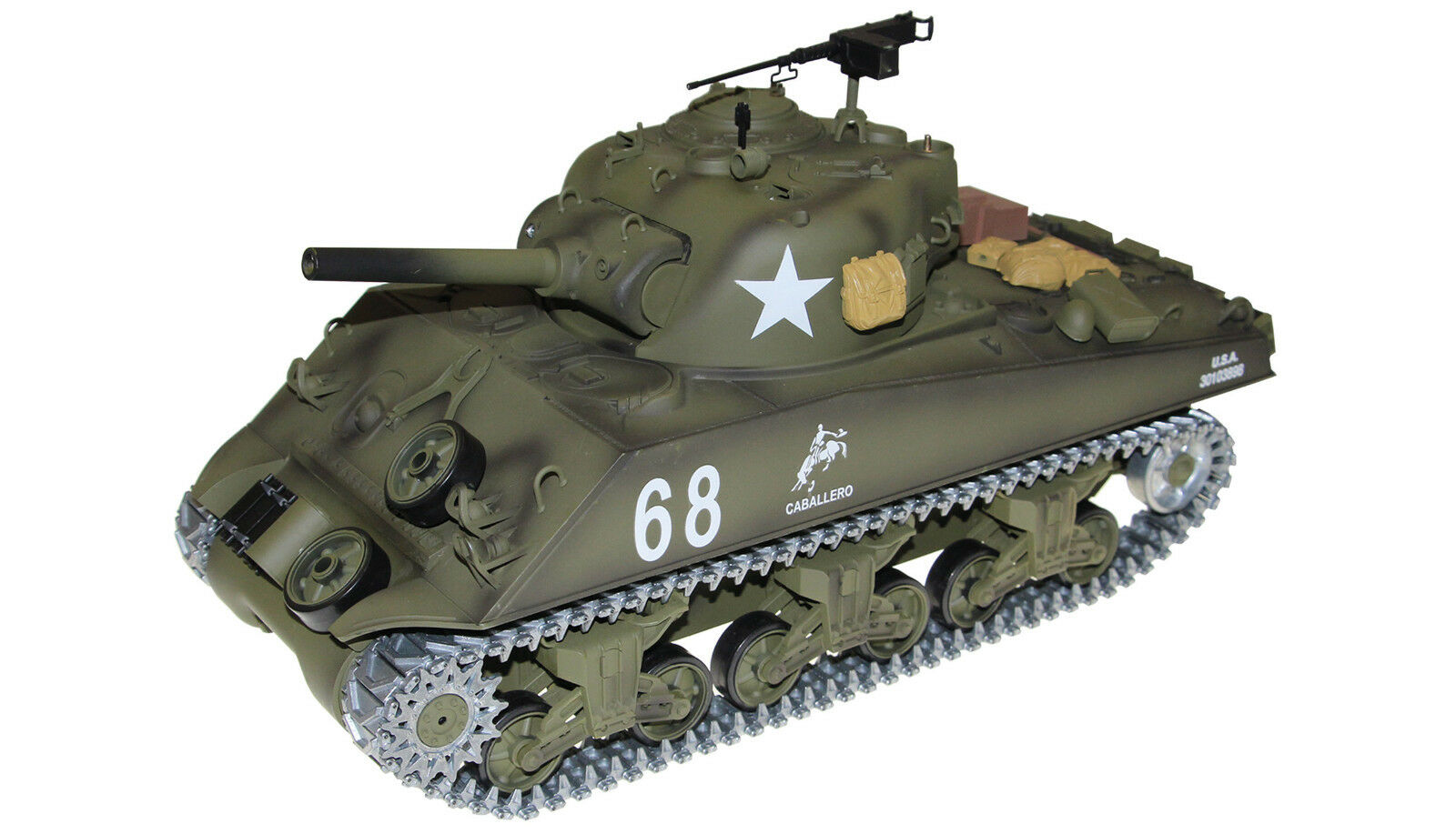 RC Militär Panzer U.S.M4A3 SHERMAN R&S/2.4GHZ Metallketten/Metallgetriebe/QC