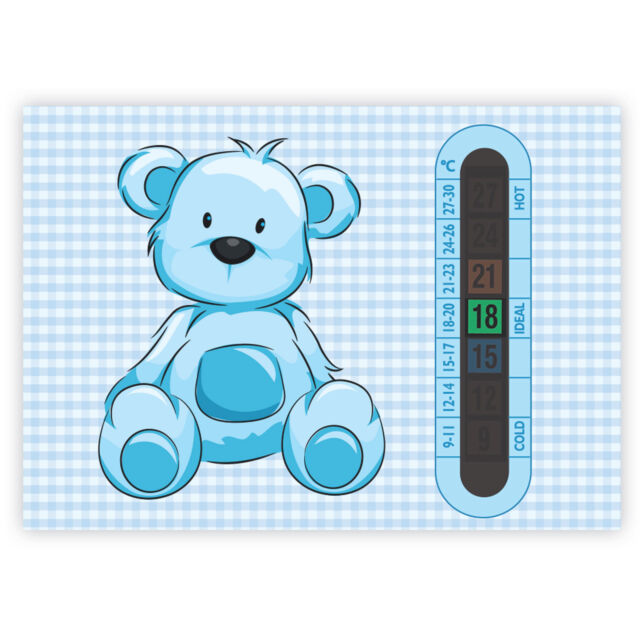 A5 Nursery Baby and Childrens Pink Teddy Bear Room Thermometers