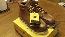 HERMAN SURVIVORS FOREMAN MENS SIZE 8.5 BROWN LEATHER STEEL TOE WORK BOOTS NEW B