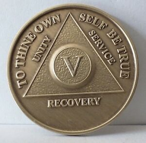 Alcoholic-5-Year-Recovery-5-Yr-Chip-Medallion-Coin-Medal-Token-AA-Anonymous