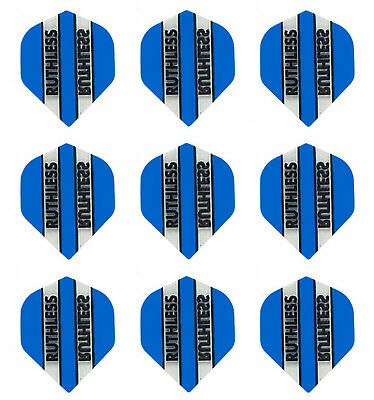 3 sets of Ruthless Blue//Clear panels Standard Darts flights