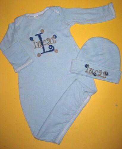 SLEEPER Gown /& HAT Gift Set Personalized Baby Boy Girl Diaper ZEBRA TOTE BAG