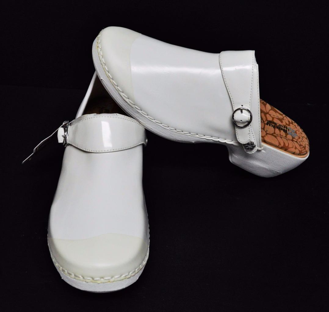 Ultimo 2018 NEW Rocky 4EurSole donna 6 6.5 37 Nursing Clog Clog Clog scarpe bianca Patent Leather 3 N 1  shopping online e negozio di moda