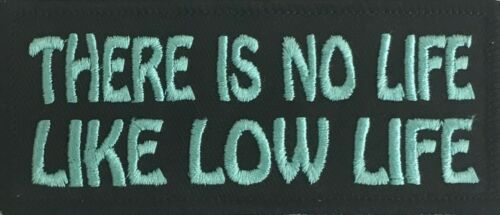 THERE IS NO LIFE..FUNNY RUDE BIKER MOTORCYCLE TRUCKER VEST IRON//SEW ON PATCH F-1