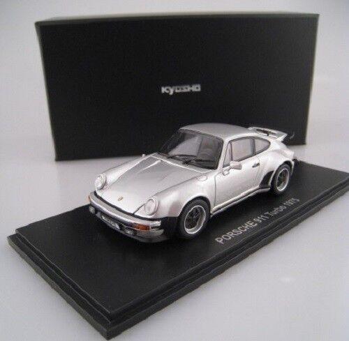 Porsche 911 Turbo  1975  in silber  Kyosho  PC-Box  1:43  OVP  NEU