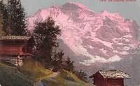 Switzerland Die Jungfrau Huette Cabin Mountain Landscape