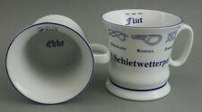 Schietwetter Pott m. Seemannsknoten hoch Becher Kaffeetasse Kaffeepott