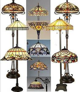 Tiffany Style Stained Glass Handcrafted Floor Lamps