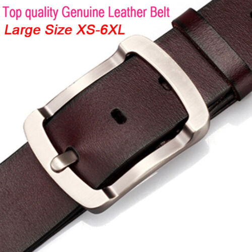 belt for jeans Top quality pin buckle Mens Belt Genuine Leather Belt Size S-6XL