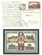 Italia Regno - Anno Santo C. 60 + 30 isolato su cartolina per la Germania - 1925